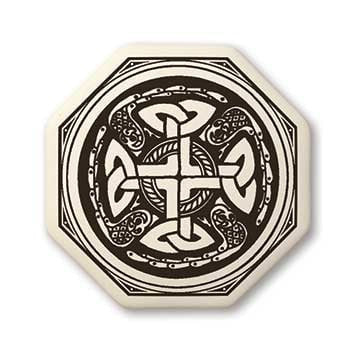 Celtic Cross Porcelain Pendant