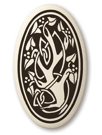 Sacred Tree of Life Porcelain Pendant