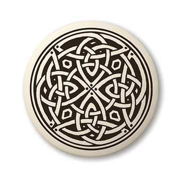 Celtic Knotwork Porcelain Pendant