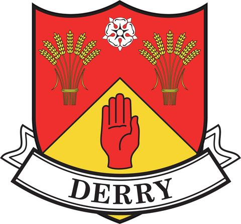 Irish County Car Sticker - Derry