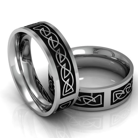 Mens Wide Celtic Knot Ring - S2649