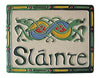 Sláinte Hand Painted Ceramic Celtic Wall Plaque