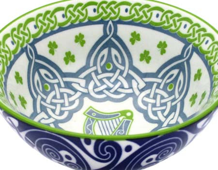 Irish Harp Ceramic Bowl