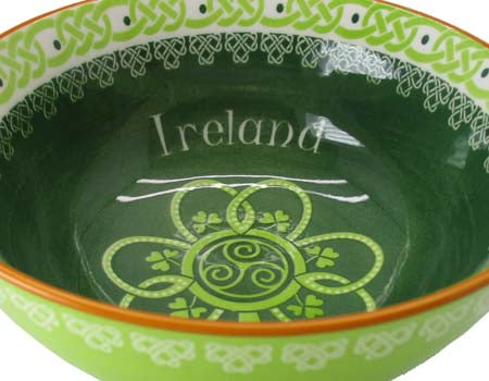 Shamrock Spiral Ceramic Bowl