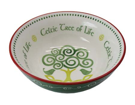Celtic Tree of Life Ceramic Bowl