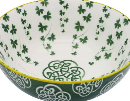Trellis Shamrock Ceramic Bowl