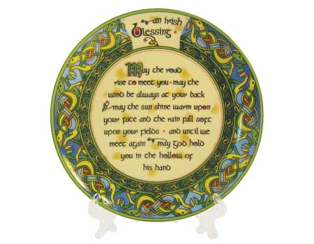 "Old Irish Blessing Bone China 4"" Plate"