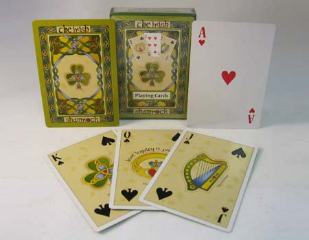 Irish Shamrock Playing Cards