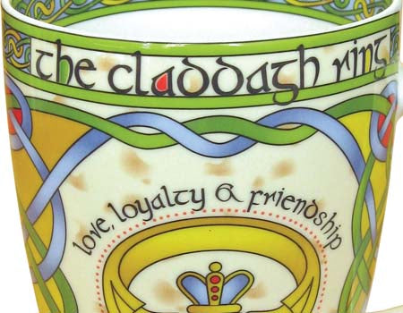 Claddagh Ring Bone China Mug