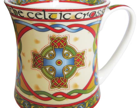 Celtic Cross Bone China Mug