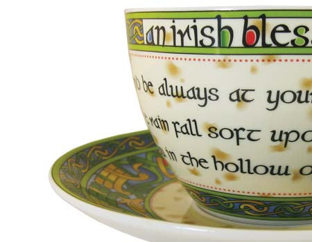 Irish Blessing Bone China Cup & Saucer