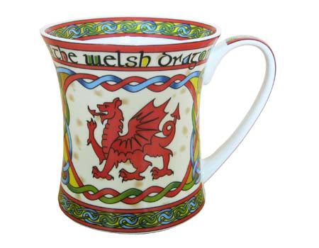 Welsh Dragon Bone China Mug