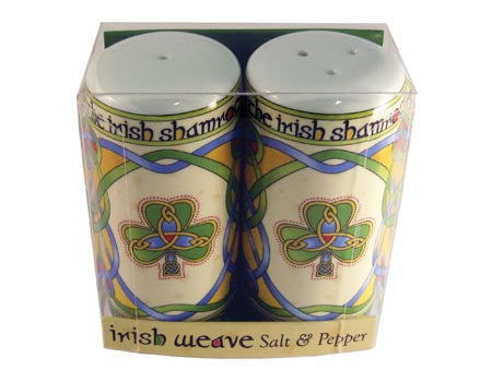 Irish Shamrock Salt & Pepper Set