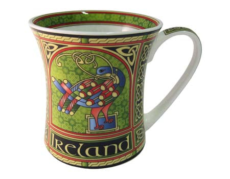 Celtic Peacock Bone China Mug