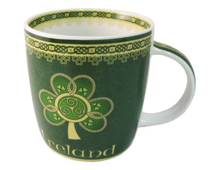 Shamrock Spiral Bone China Mug