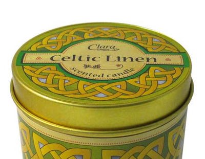 Celtic Linen Scented Travel Candle