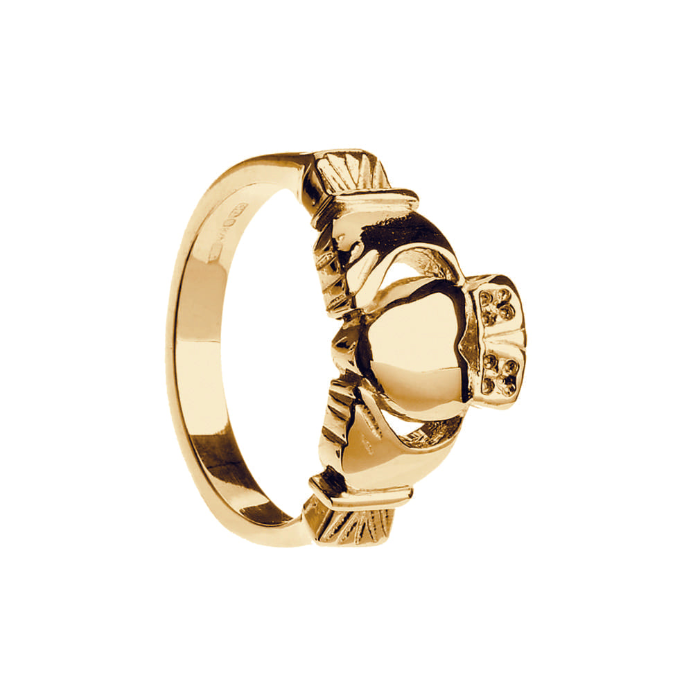 Heavy Weight Claddagh Ring For Men by Boru Jewelry