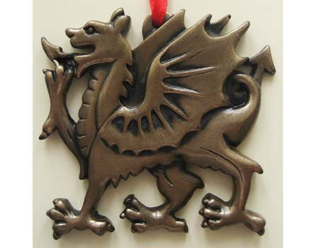 Welsh Dragon Ornament