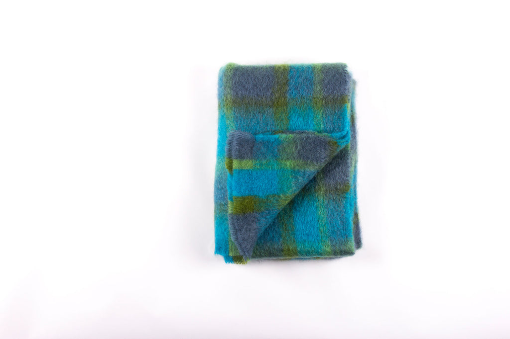Brushed Mohair Throw - Atoll