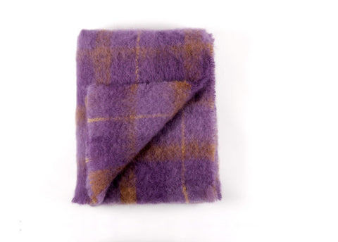 Brushed Mohair Throw - Berry