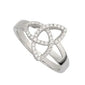 Trinity Knot Ring with CZ - S21015 by Solvar