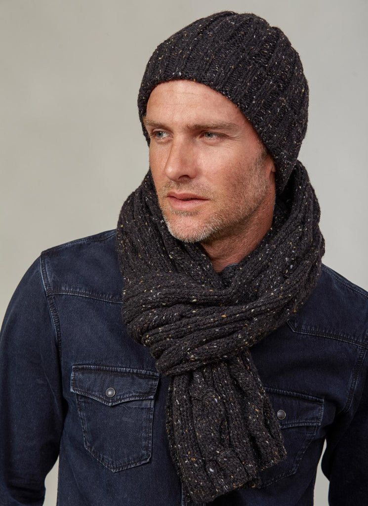 Fisherman 100 Merino Wool Mens Scarf And Beanie Real Irish
