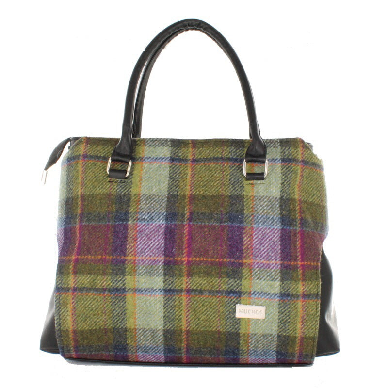 Ladies 'Emily' Plaid Shoulder Bag/Handbag - Pink/Green/Purple Plaid