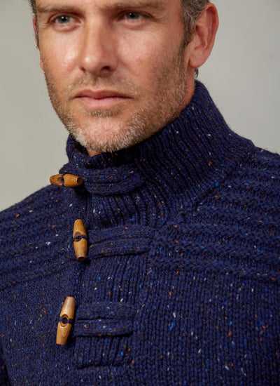 Mens 3 Toggle Button Sweater