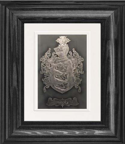 Single Name Framed Family Crest