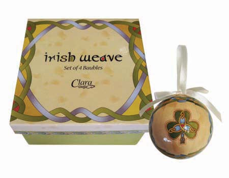 Set of 4 Irish Emblem Ornaments