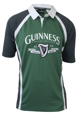 Green and Grey Long Sleeve Guinness Baseball Tee - G6063