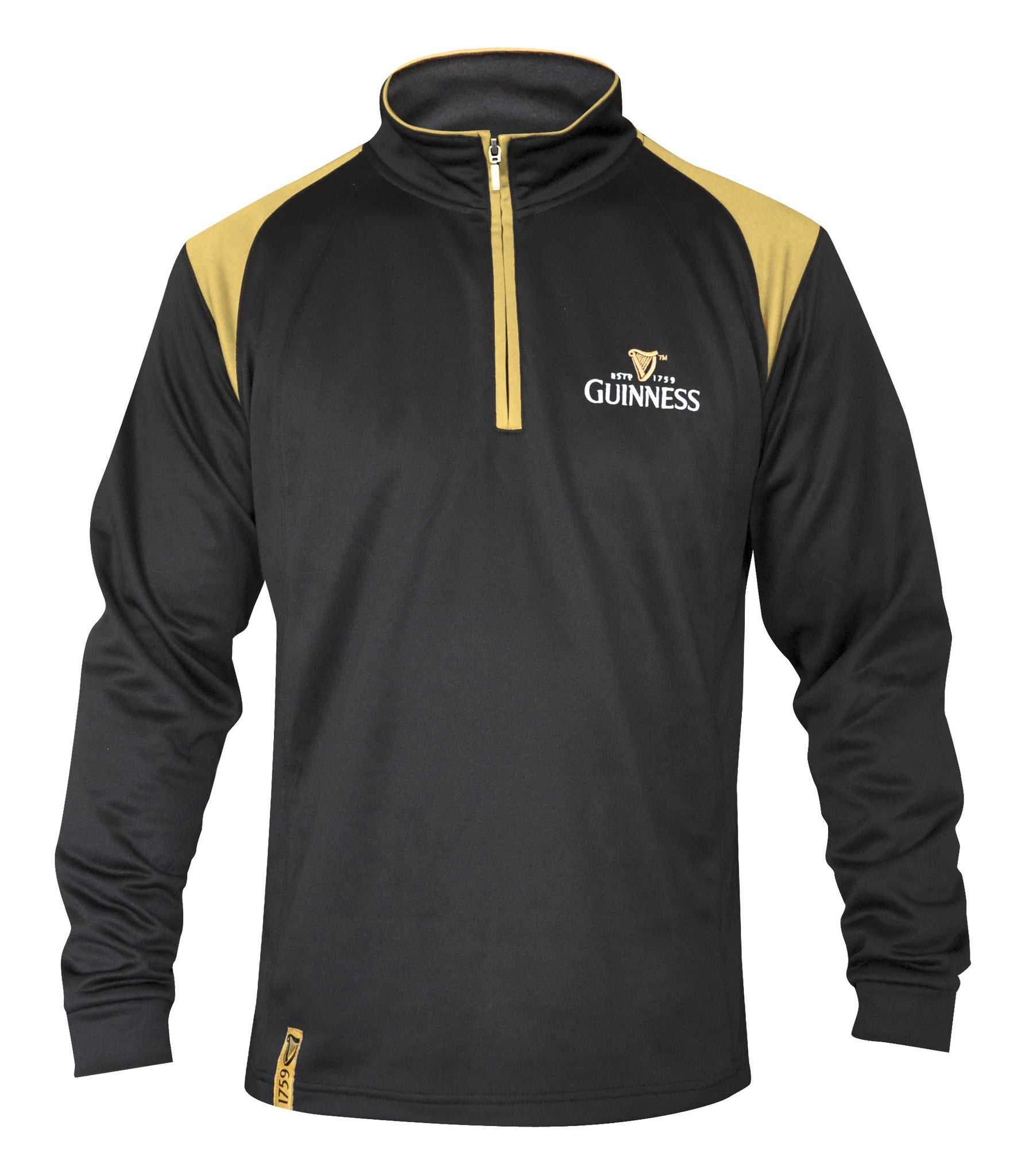 Guinness Half Zip Black and Tan Fleece - G4613