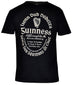 Black Guinness Distressed Gaelic Label T-Shirt - G6046