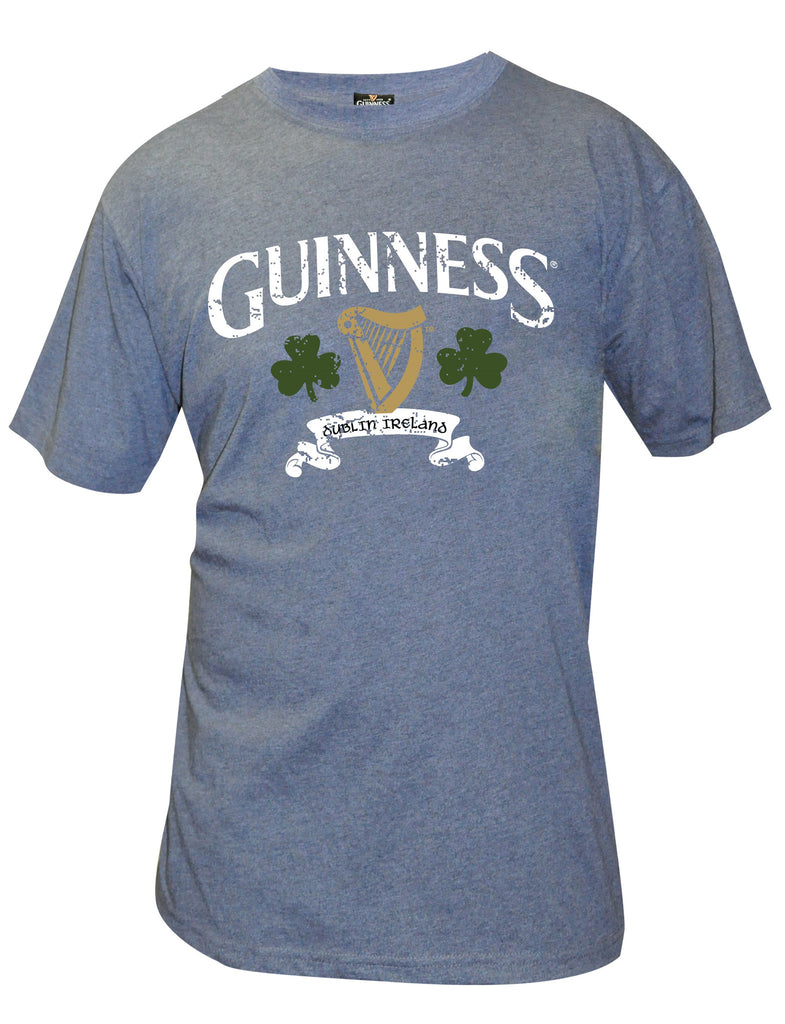 Navy Guinness Harp and Shamrock T-shirt