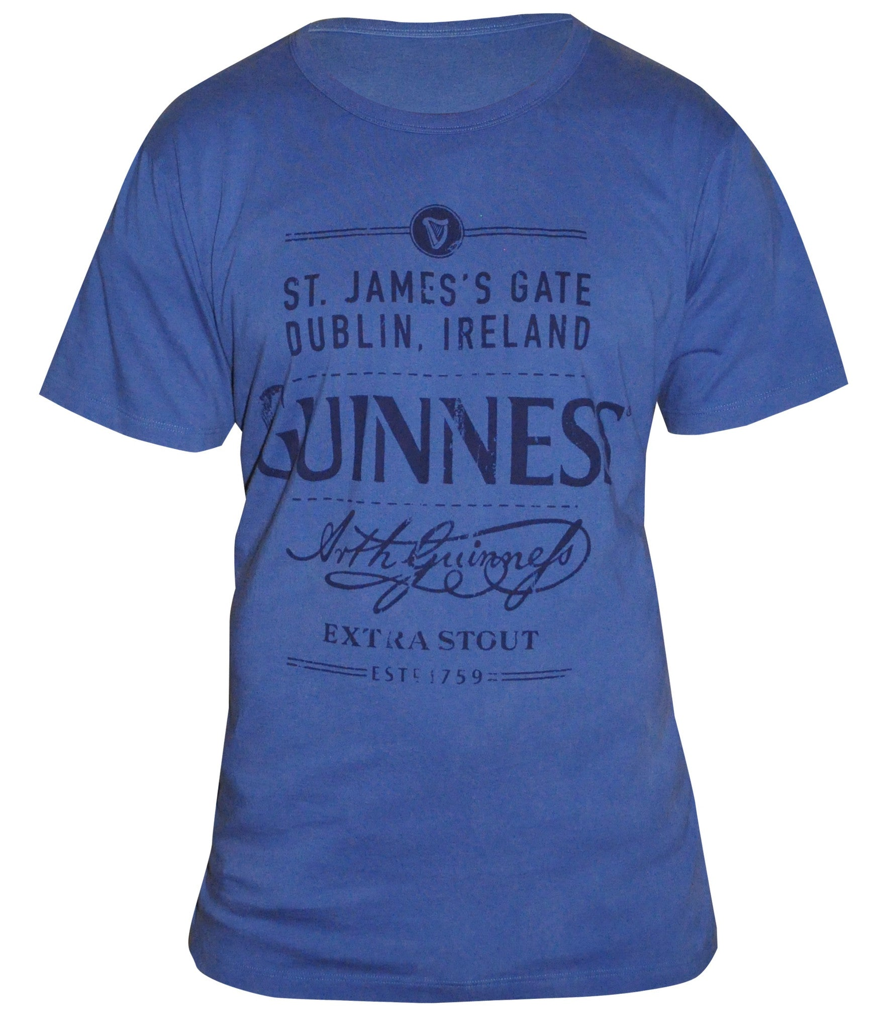 Guinness Blue Vintage Distressed Tee - G6062