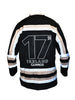 This is the back view of the Guinness black Hockey jersey, only available at realirish.com