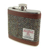 6oz Harris Tweed Hip Flask