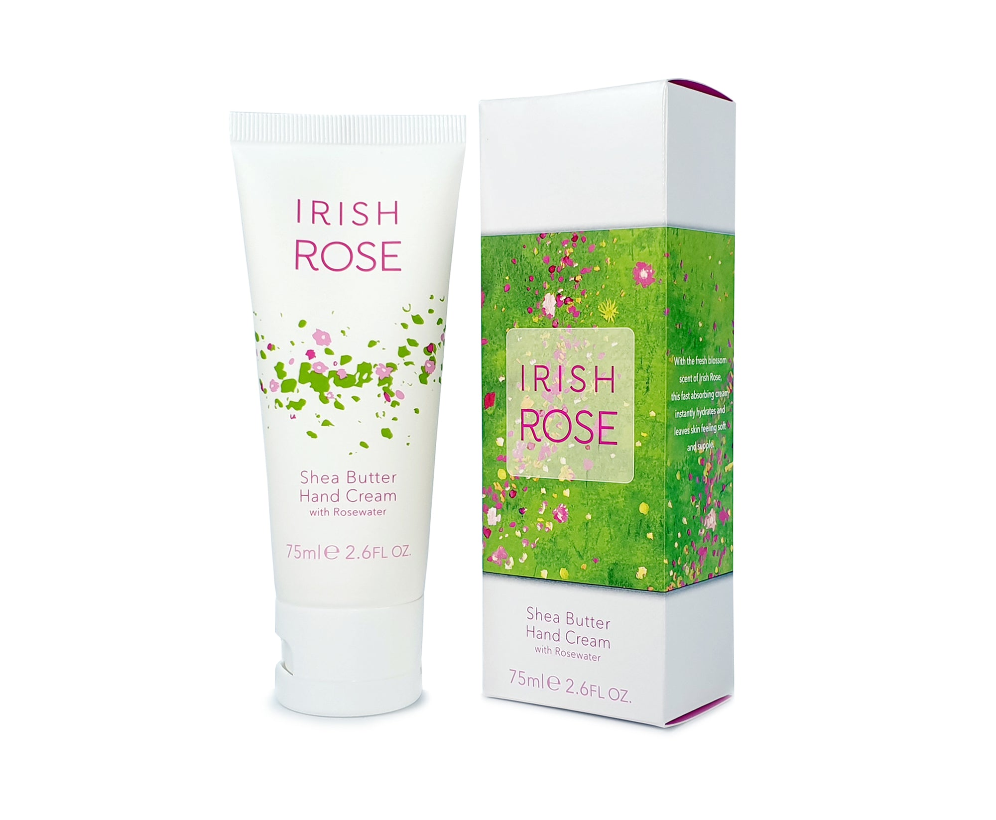 Irish Rose Shea Butter Hand Cream with Rosewater (75ml 2.6 fl oz)