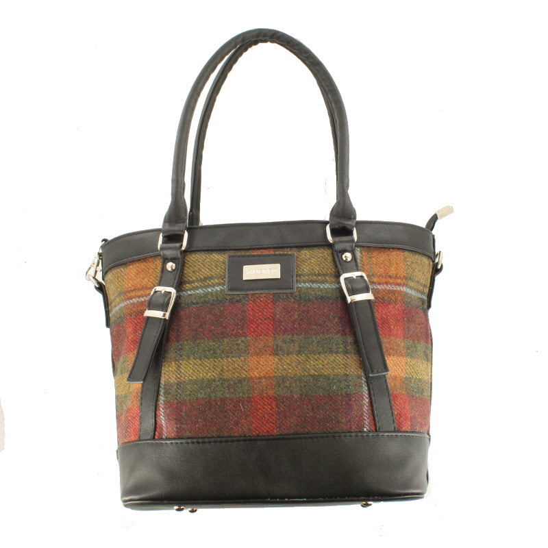 Ladies 'Kelly' Plaid Shoulder Bag/Handbag - Autumn Plaid