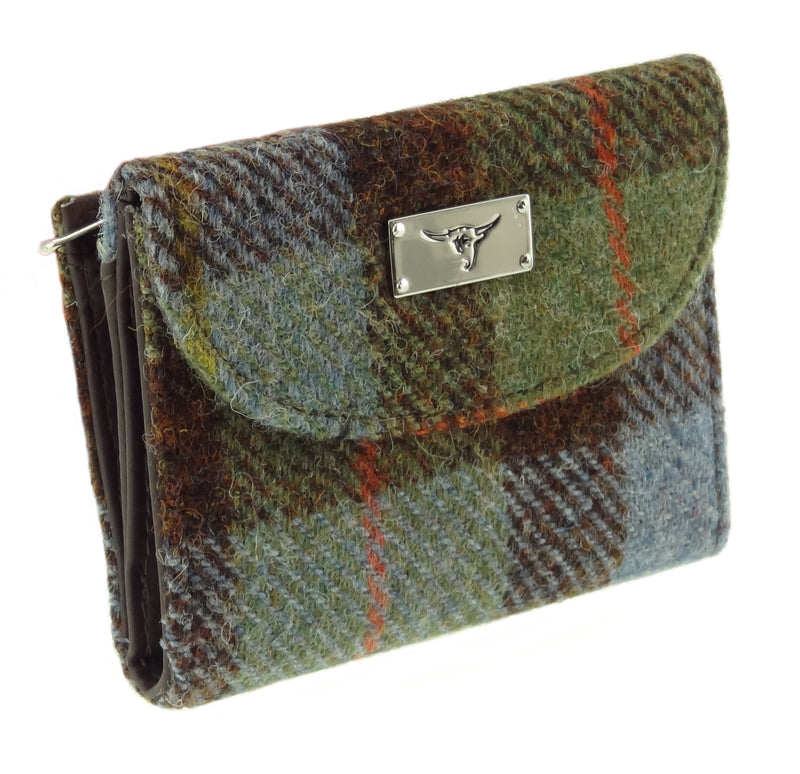 Women's Harris Tweed Zip Wallet with Card Section - Jura LB2002