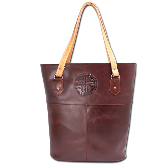 Ladies Leather Tote Bag - Brown