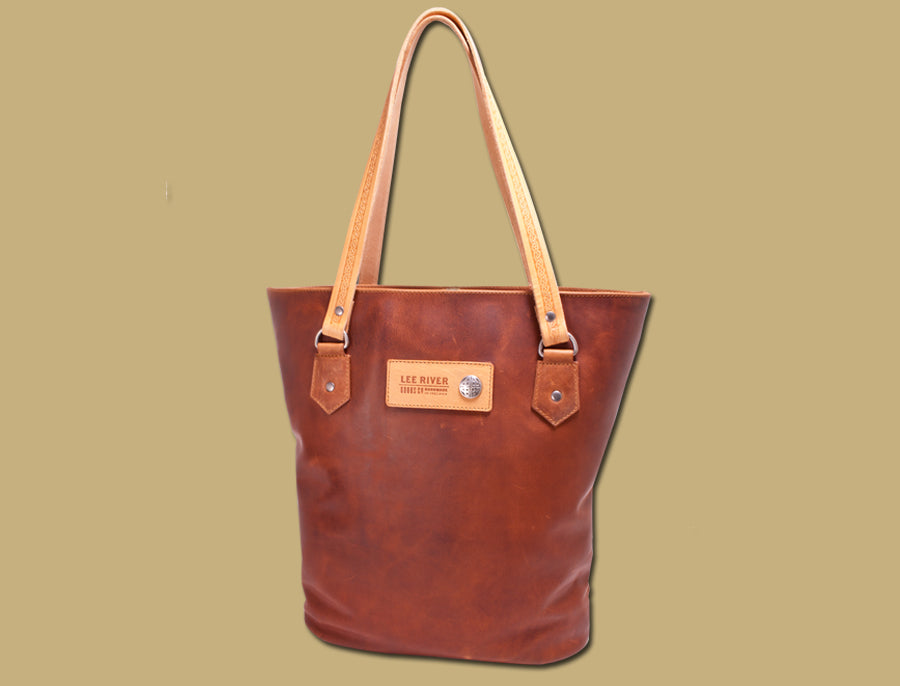 Ladies Leather Tote Bag -Tan
