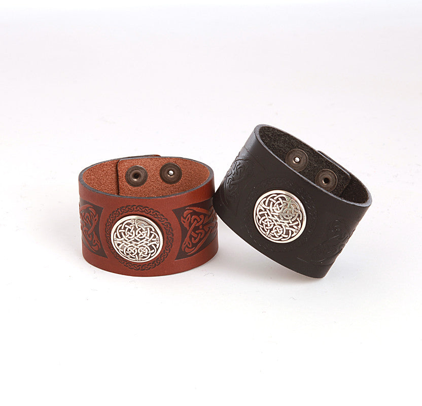 Dara Leather Celtic Wrist Cuff by Lee River Leather