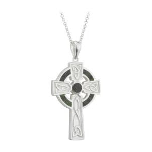 Large Marble Cross Pendant S/S - S46023