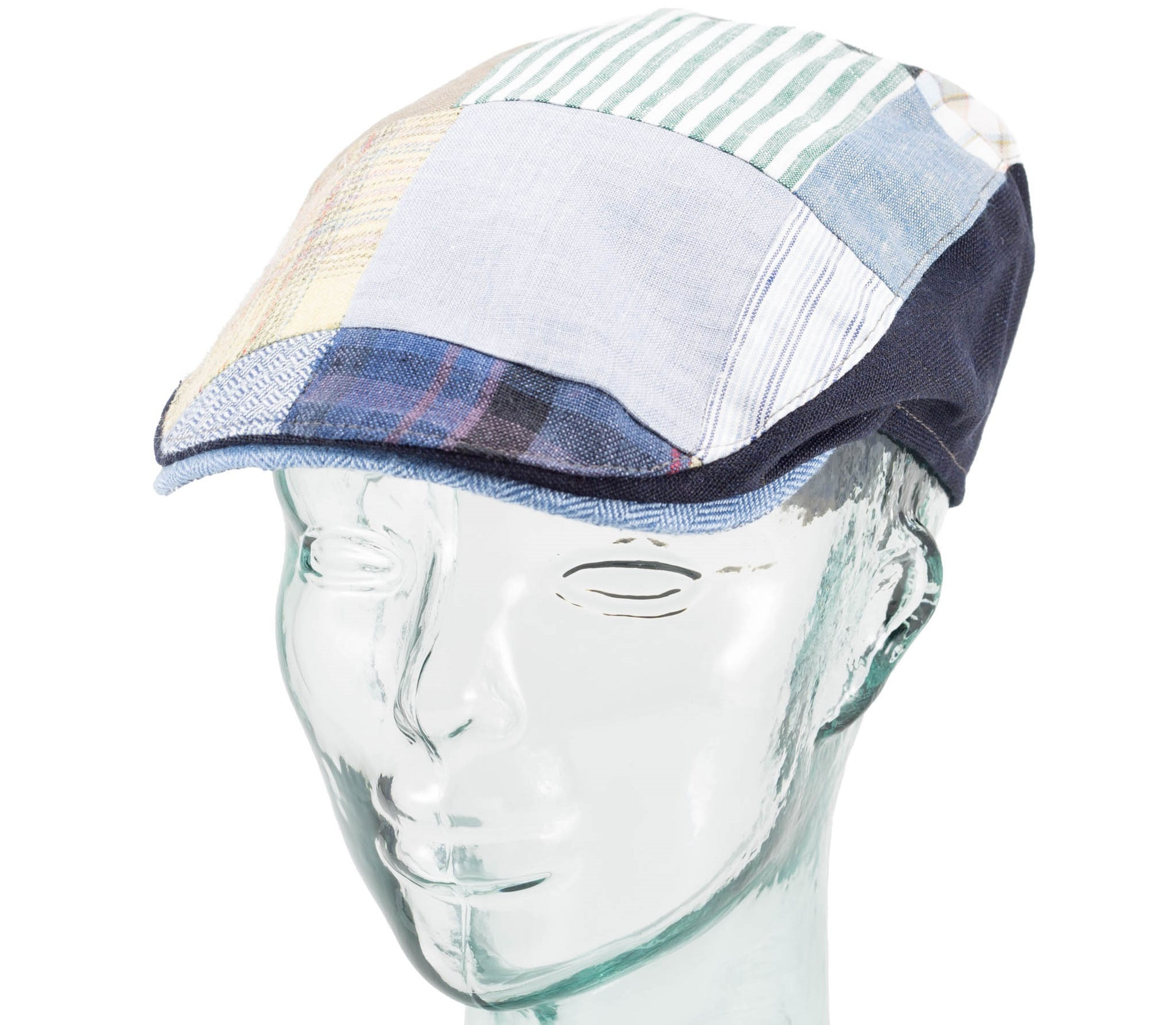 Linen Patchwork - Donegal Touring Cap