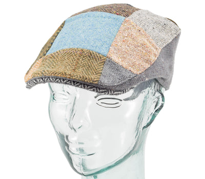 Mens Donegal Touring Patchwork Cap by Hanna Hats Offset side view