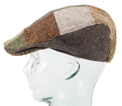 Wool Patchwork - Donegal Touring Cap