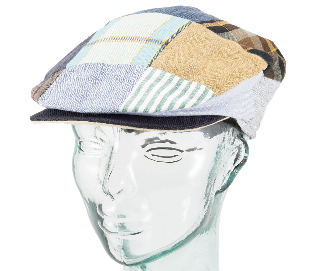 Linen Patchwork - Vintage Style Cap - Hanna Hats – Real Irish 73a7044636d