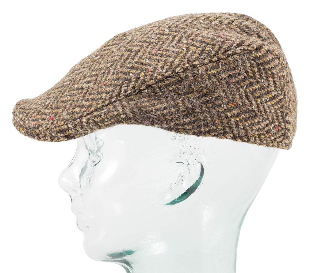 Herringbone Tweed - Donegal Touring Cap - Hanna Hats