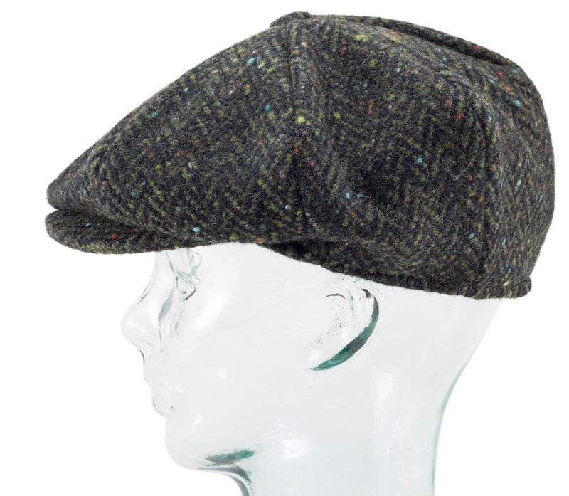 Handwoven Tweed - Eight Piece Cap - Hanna Hats